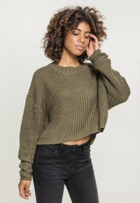 Pulover Wide lejer pentru Femei oliv Urban Classics