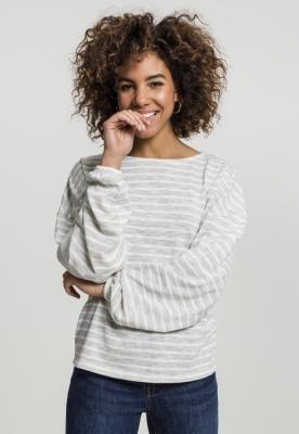 Pulovere lejer cu dungi pentru Femei gri-alb Urban Classics