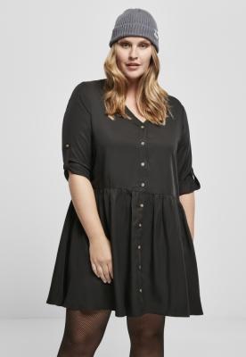 Rochie-camasa Babydoll pentru Femei negru Urban Classics