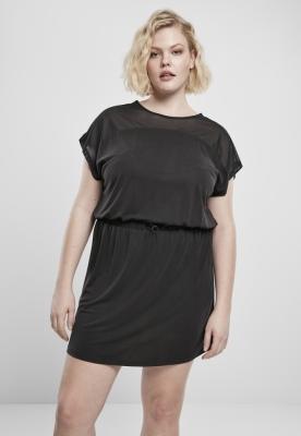 Rochie cu plasa Modal pentru Femei negru Urban Classics