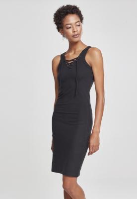 Rochie cu siret pentru Femei negru Urban Classics