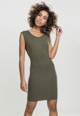 Rochie decoltata lateral pentru Femei oliv Urban Classics