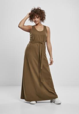 Rochie lunga decoltata la spate pentru Femei oliv Urban Classics