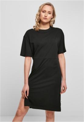 Rochie oversize cu crapatura pe picior Organic pentru Femei negru Urban Classics