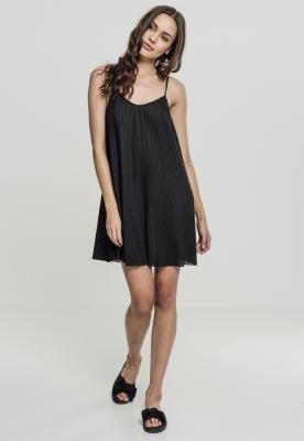 Rochie plisata Jersey pentru Femei negru Urban Classics