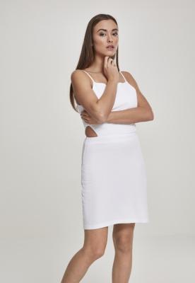 Rochie scurta cu bretele subtiri pentru Femei alb Urban Classics