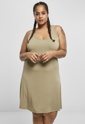 Rochie scurta cu spatele decoltat Modal pentru Femei kaki Urban Classics