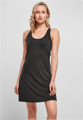 Rochie scurta cu spatele decoltat Modal pentru Femei negru Urban Classics