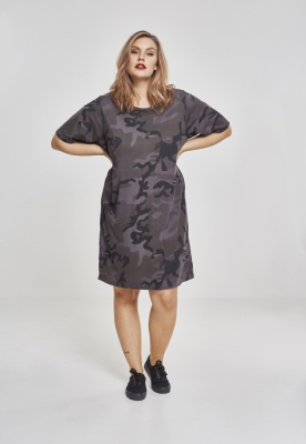Rochie tricou Camo pentru Femei inchis-camuflaj