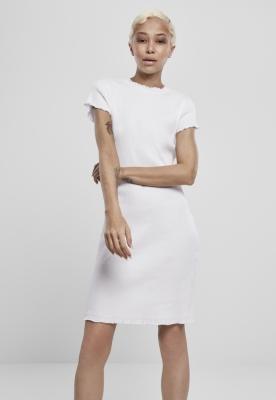 Rochie tricou Rib pentru Femei alb Urban Classics