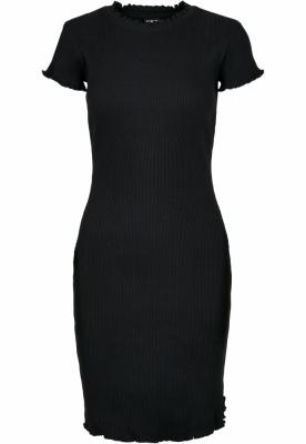 Rochie tricou Rib pentru Femei negru Urban Classics