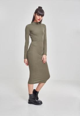 Rochie Turtleneck LS pentru Femei oliv Urban Classics
