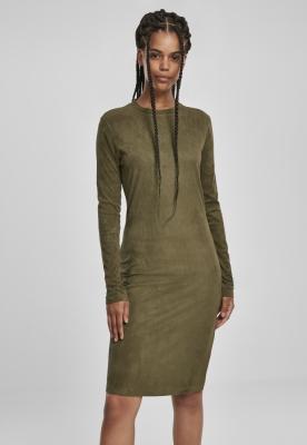 Rochie urban stramta cu maneca scurta urban LS pentru Femei oliv Urban Classics