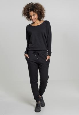 Salopeta cu Maneca Lunga Terry pentru Femei negru Urban Classics