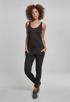 Salopeta Melange pentru Femei negru-negru Urban Classics