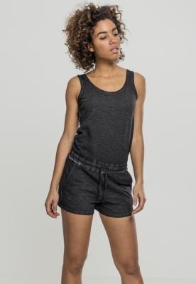 Salopeta scurta Cold Dye pentru Femei negru Urban Classics