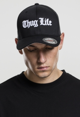 Sapca Flexfit Thug Life Old English negru