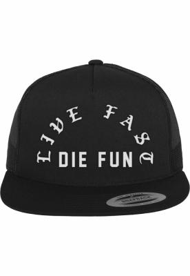 Sepci Famous Live Fast Die Fun Trucker negru