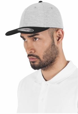 Sepci hip hop Flexfit Double Jersey 2-Tone gri-negru