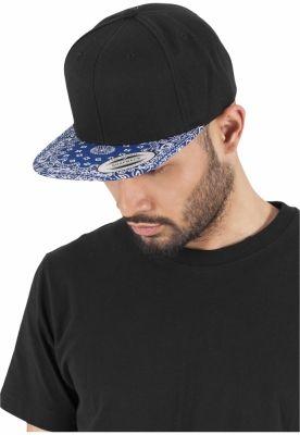 Sepci hip hop Snapback Bandana negru-albastru Flexfit