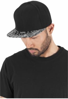 Sepci hip hop Snapback Bandana negru-negru Flexfit
