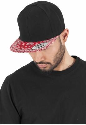 Sepci hip hop Snapback Bandana negru-rosu Flexfit