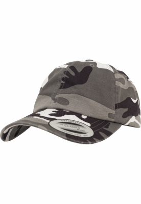 Sepci Low Profile Camo Washed argintiu-camuflaj Flexfit