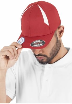 Sepci rap Flexfit Performance rosu-alb
