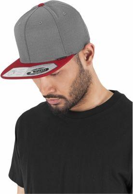 Sepci rap Heringbone 110 Snapback gri-rosu Flexfit