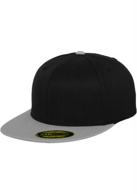 Sepci rap Premium 210 Fitted doua culori negru-gri Flexfit
