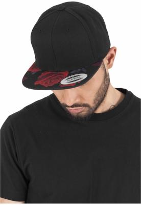 Sepci rap Roses Snapback negru-rosu Flexfit