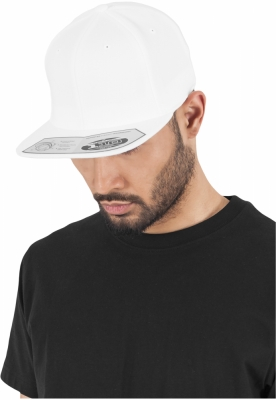 Sepci rap Snapback 110 Fitted alb Flexfit