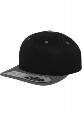 Sepci rap Snapback 110 Fitted negru-gri Flexfit