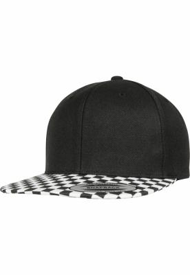 Sepci rap Snapback Checkerboard negru-alb Flexfit