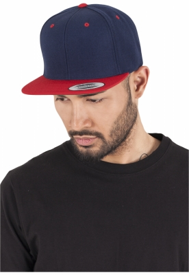 Sepci rap Snapback Classic 2-Tone bleumarin-rosu Flexfit