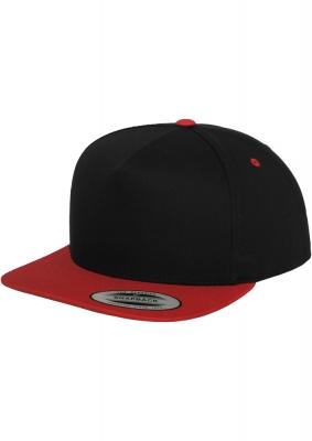 Sepci rap Snapback Classic 5 Panel negru-rosu Flexfit