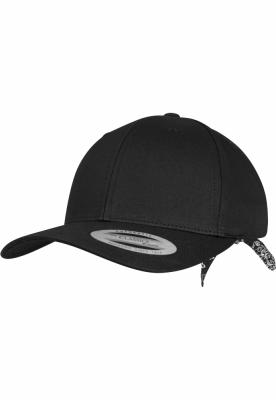 Sepci rap Snapback Curved Bandana Tie negru-negru Flexfit