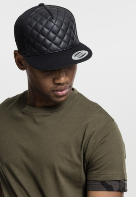 Sepci rap Snapback Diamond Quilted negru Flexfit
