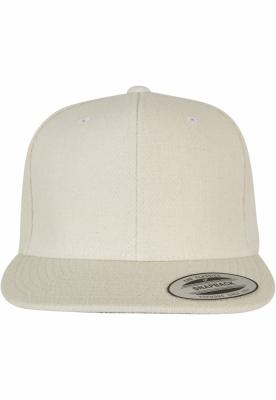 Sepci rap Snapback Melton Wool alb Flexfit