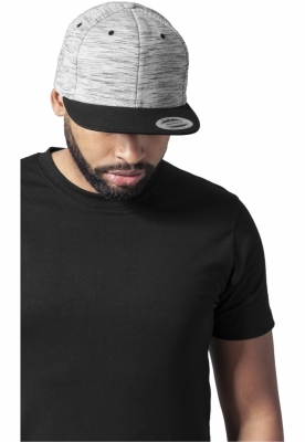 Sepci rap Snapback Stripes Melange Crown negru-gri Flexfit