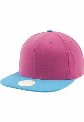Sepci rap Snapback Two Tone roz-albastru aqua Flexfit