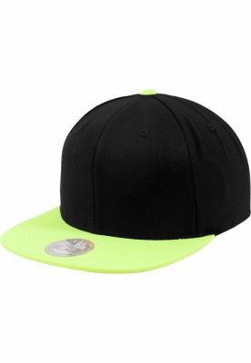 Sepci rap Snapback Two Tone negru-galben neon Flexfit