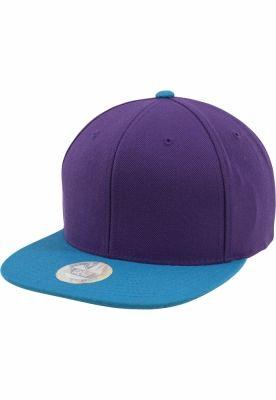 Sepci rap Snapback Two Tone mov-albastru aqua Flexfit