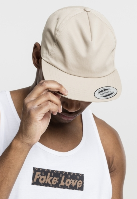 Sepci rap Snapback Unstructured 5-Panel kaki Flexfit