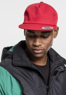 Sepci rap Snapback Unstructured 5-Panel rosu Flexfit