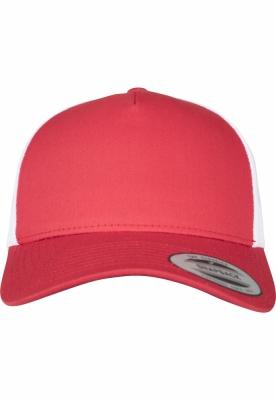 Sepci Sepci Retro Trucker 5-Panel doua culori rosu-alb Flexfit