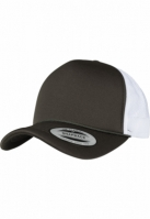 Sapca Trucker Curved Visor Foam alb-buck Flexfit