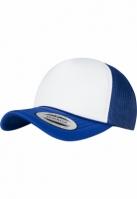 Sapca Trucker Curved Visor Foam albastru roial-alb Flexfit