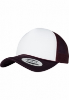 Sapca Trucker Curved Visor Foam berry-alb Flexfit