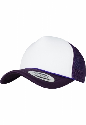 Sapca Trucker Curved Visor Foam mov-alb Flexfit